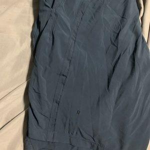 Dark blue men's lululemon shorts